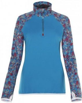 Vist Yang T-Neck blue/flower print
